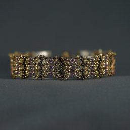 Purple & Gold Lace Bracelet