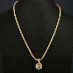 Gold & Swarovski Crystal Necklace