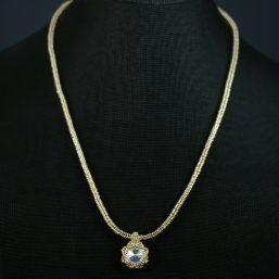 Gold & Clear Swarovski Crystal Necklace
