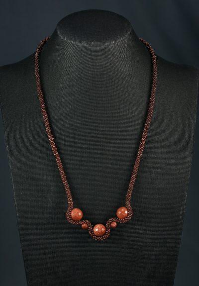 Goldstone Wave Necklace