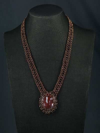 Red Empress Necklace and Earring Set